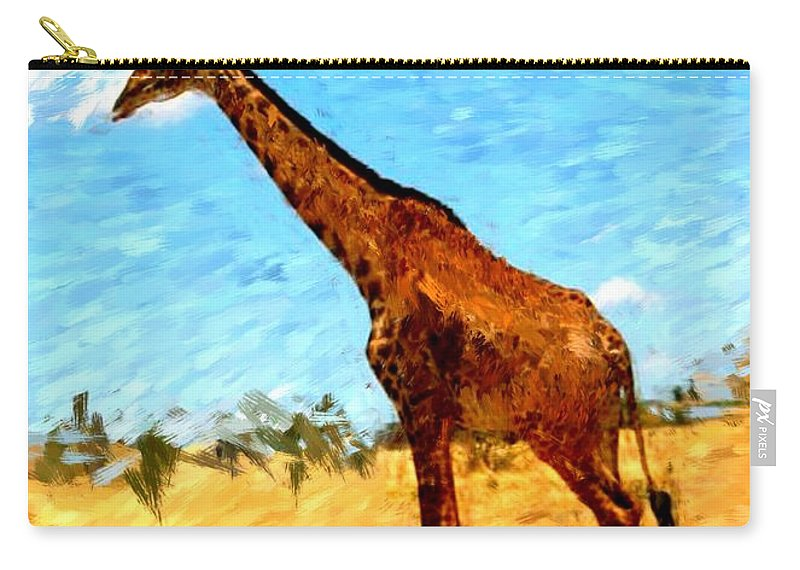 Giraffe Carry-all Pouch featuring the photograph Giraffe by David Lane