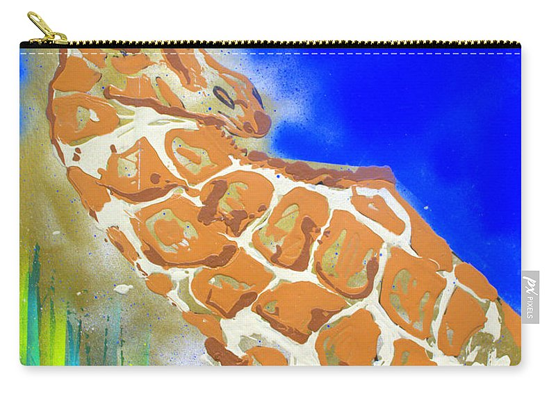Giraffe Carry-all Pouch featuring the painting Giraffe by J R Seymour