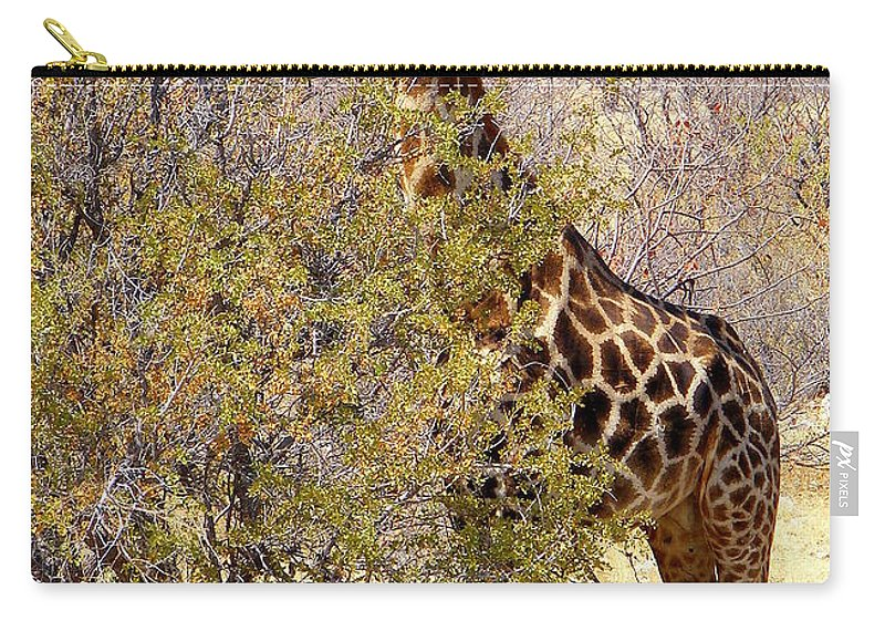 Most Popular Carry-all Pouch featuring the photograph Giraffe by Noa Yerushalmi
