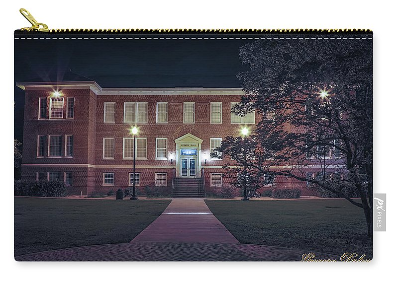 Ul Carry-all Pouch featuring the photograph Girard Hall At Night by Gregory Daley MPSA