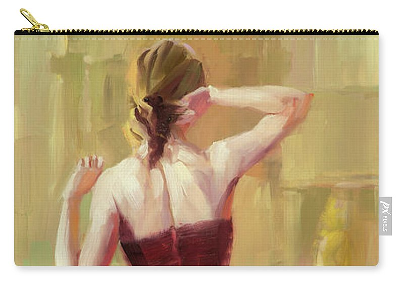 Dancer Carry-all Pouch featuring the painting Girl in a Copper Dress III by Steve Henderson