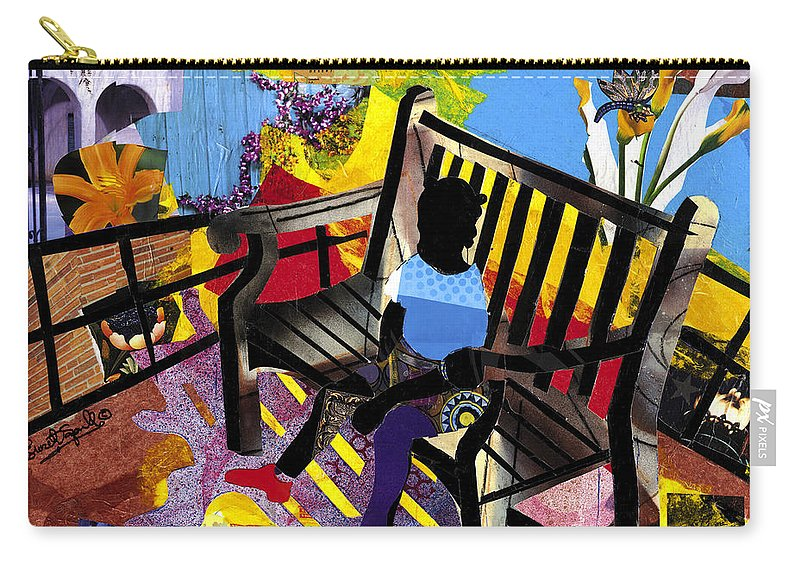 Everett Spruill Carry-all Pouch featuring the painting Girl In Red Shoes by Everett Spruill