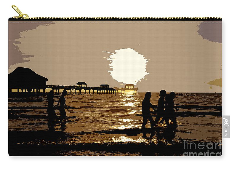 Girlfriends Carry-all Pouch featuring the painting Girlfriends by David Lee Thompson