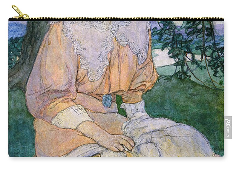 1908 Carry-all Pouch featuring the painting Gisele C1908 by Justus Miles Forman