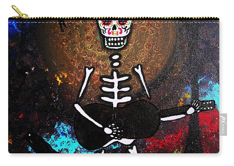 Dia Carry-all Pouch featuring the painting Gitarero by Pristine Cartera Turkus