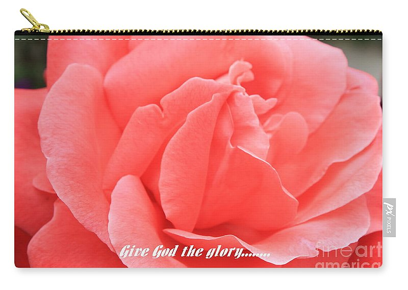 Rose Carry-all Pouch featuring the photograph Give God The Glory by Carol Groenen