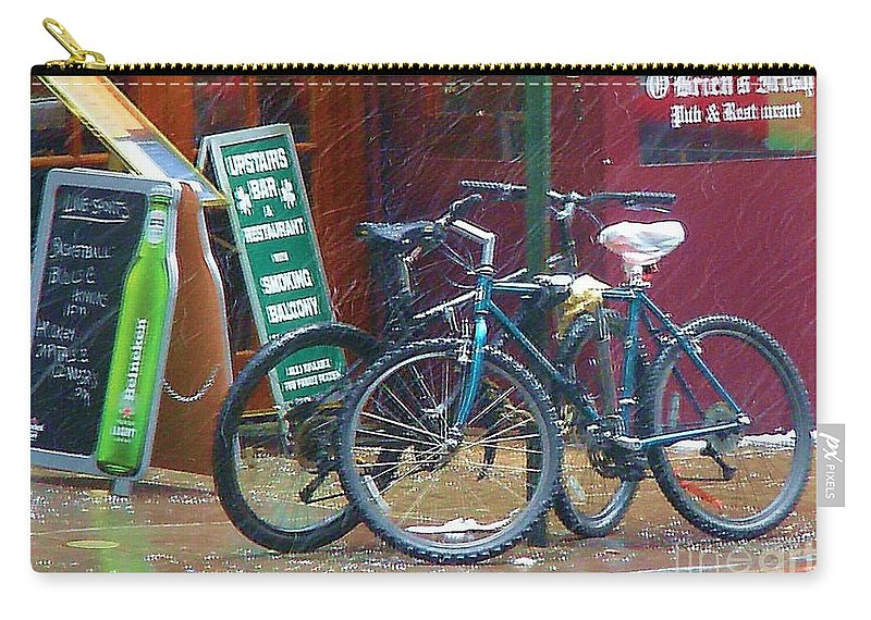 Bike Carry-all Pouch featuring the photograph Give Me Shelter by Debbi Granruth