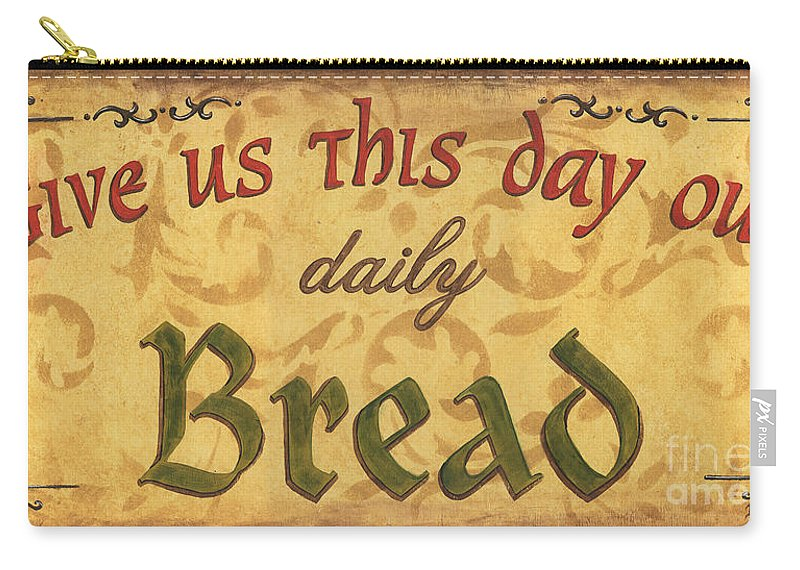 Bread Carry-all Pouch featuring the painting Give Us This Day by Debbie DeWitt