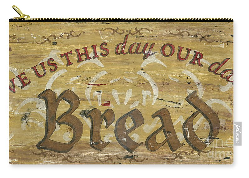 Bread Carry-all Pouch featuring the painting Give Us This Day Our Daily Bread by Debbie DeWitt