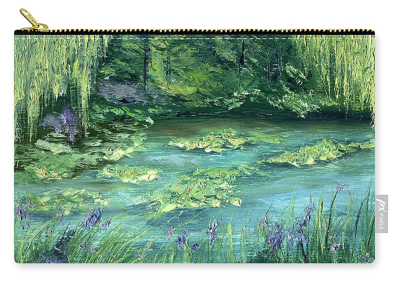 Giverny Carry-all Pouch featuring the painting Giverny by Gail Kirtz
