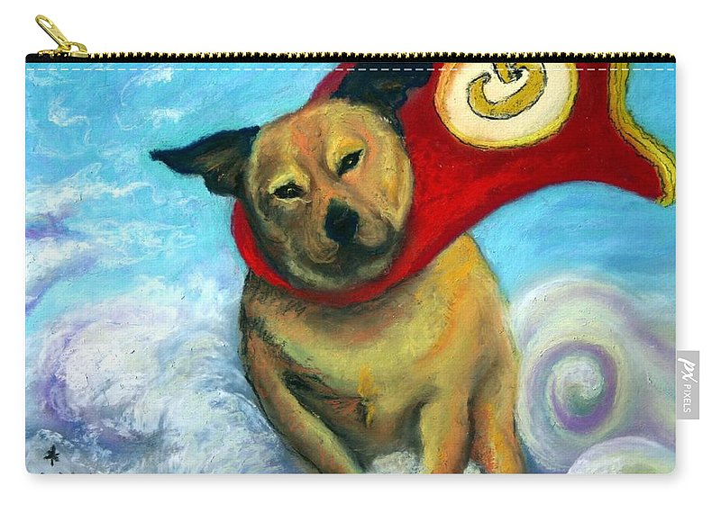 Dog Carry-all Pouch featuring the painting Gizmo The Great by Minaz Jantz