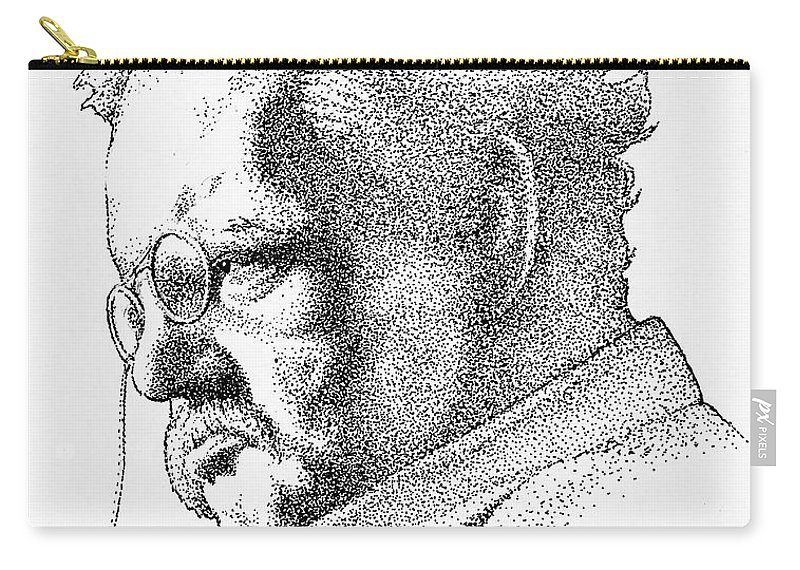 Gk Chesterton Carry-all Pouch featuring the drawing Gk Chesterton by James Deady