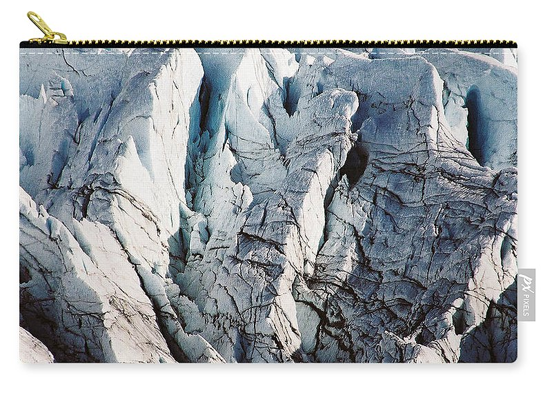 Alaska Carry-all Pouch featuring the photograph Glacier Detail by Kimberly Blom-Roemer