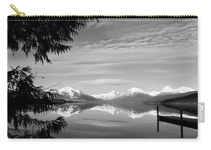 Mountains Carry-all Pouch featuring the photograph Glacier In Black And White by Eric Fellegy