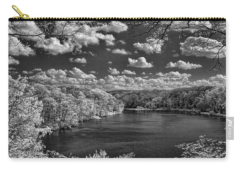Infrared Carry-all Pouch featuring the photograph Glacier Lake by Michael McGowan