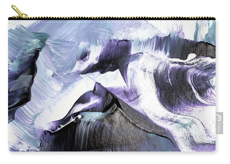 Abstract Carry-all Pouch featuring the painting Glacier Mountains by PrintsProject
