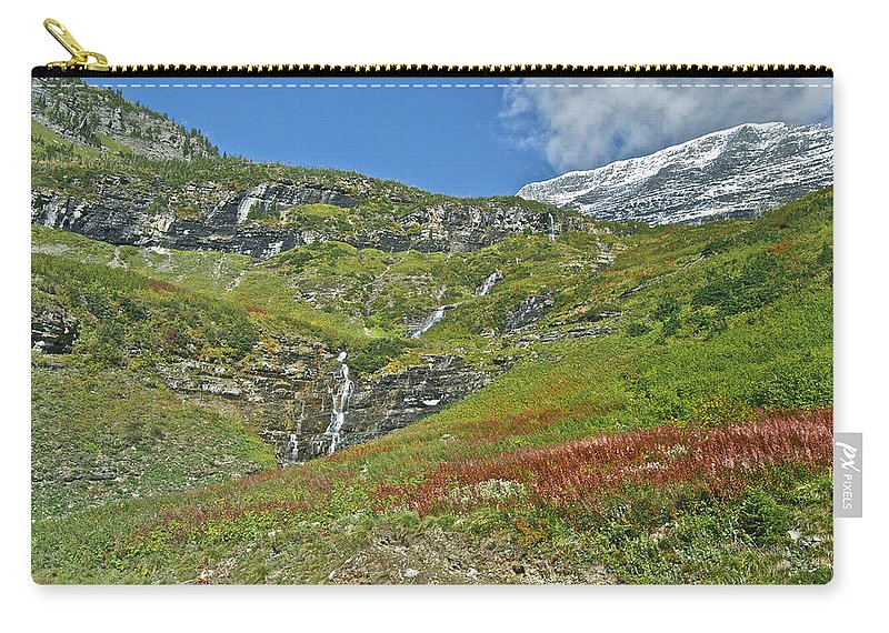 Landscape Carry-all Pouch featuring the photograph Glacier National Park by Michael Peychich