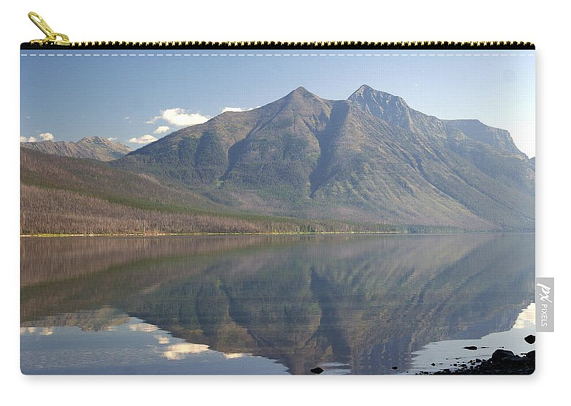Glacier National Park Carry-all Pouch featuring the photograph Glacier Reflection1 by Marty Koch
