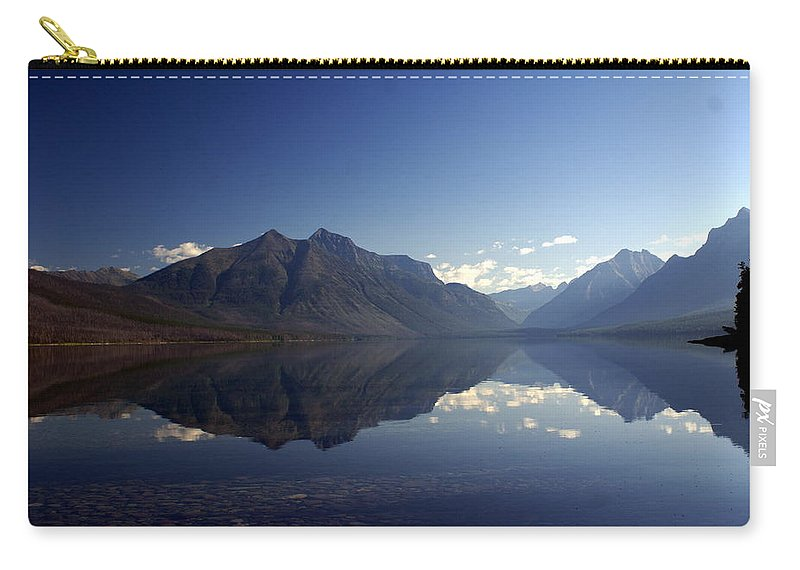 Glacier National Park Carry-all Pouch featuring the photograph Glacier Reflections 2 by Marty Koch