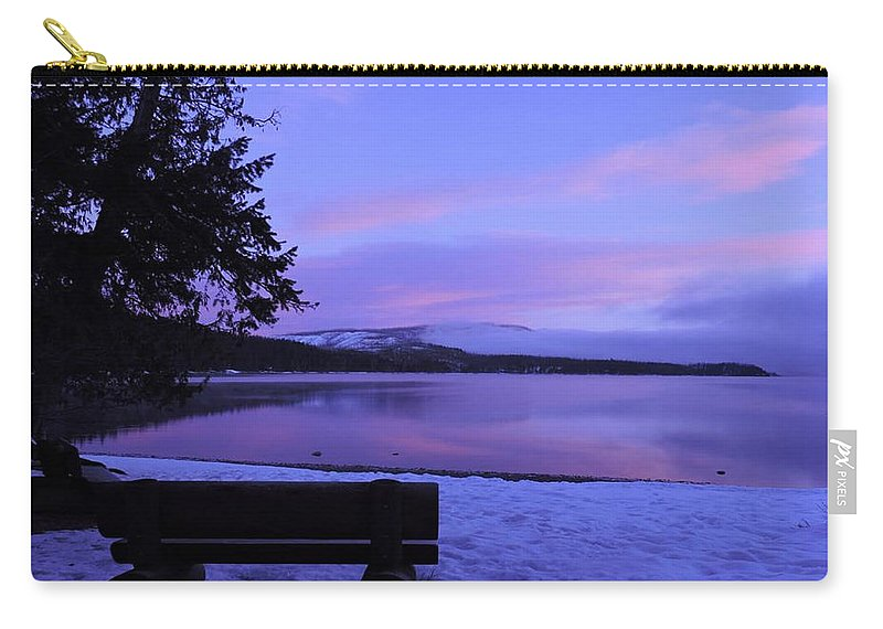 Mountains Carry-all Pouch featuring the photograph Glacier Sunrise by Eric Fellegy