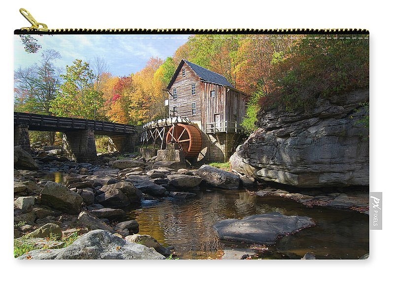 Mill Carry-all Pouch featuring the photograph Glade Creek Grist Mill by Steve Stuller