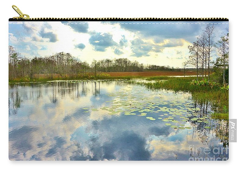 Glades Reflective Carry-all Pouch featuring the photograph Glades Reflective 2 by Lisa Renee Ludlum