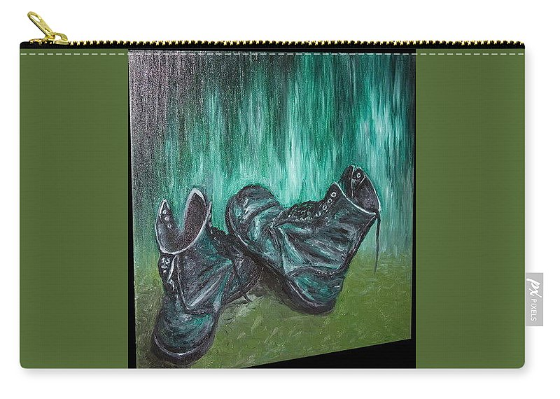 Shoes Carry-all Pouch featuring the painting Gladiator by Pablo de Choros