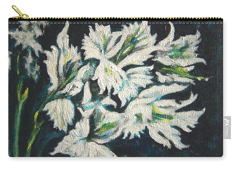 Gladioli Carry-all Pouch featuring the painting Gladioli by Usha Shantharam