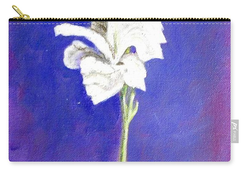Flower Carry-all Pouch featuring the painting Gladiolus 1 by Usha Shantharam