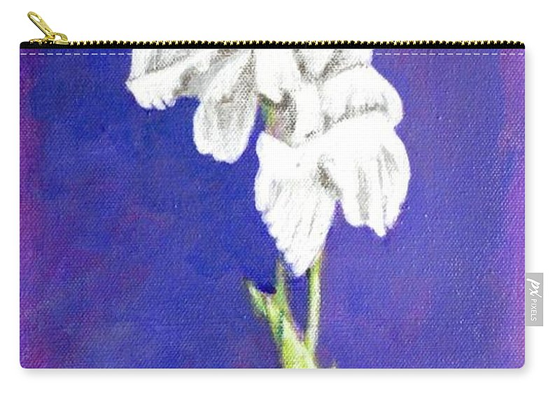 Carry-all Pouch featuring the painting Gladiolus 2 by Usha Shantharam