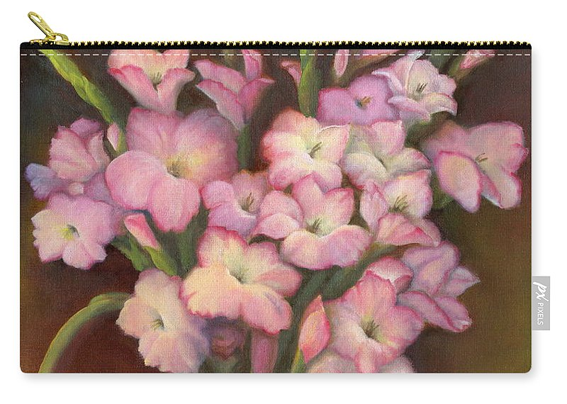 Flowers Carry-all Pouch featuring the painting Glads by Marlene Book