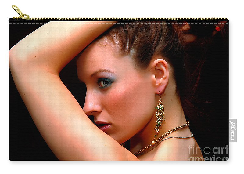 Clay Carry-all Pouch featuring the photograph Glam Girl by Clayton Bruster