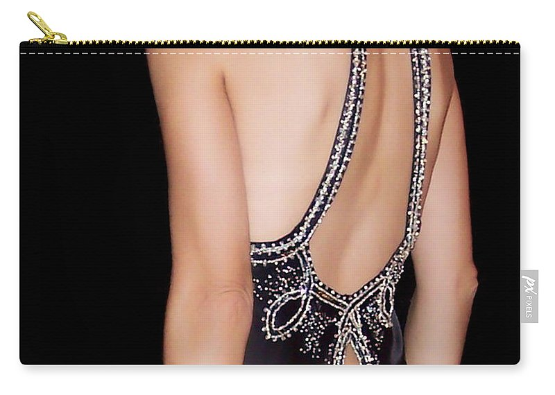 Woman Carry-all Pouch featuring the photograph Glamour by Donna Blackhall