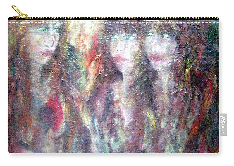 Colour Carry-all Pouch featuring the painting Glance by Wojtek Kowalski