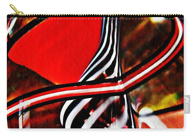 Abstract Carry-all Pouch featuring the photograph Glass Abstract 500 by Sarah Loft