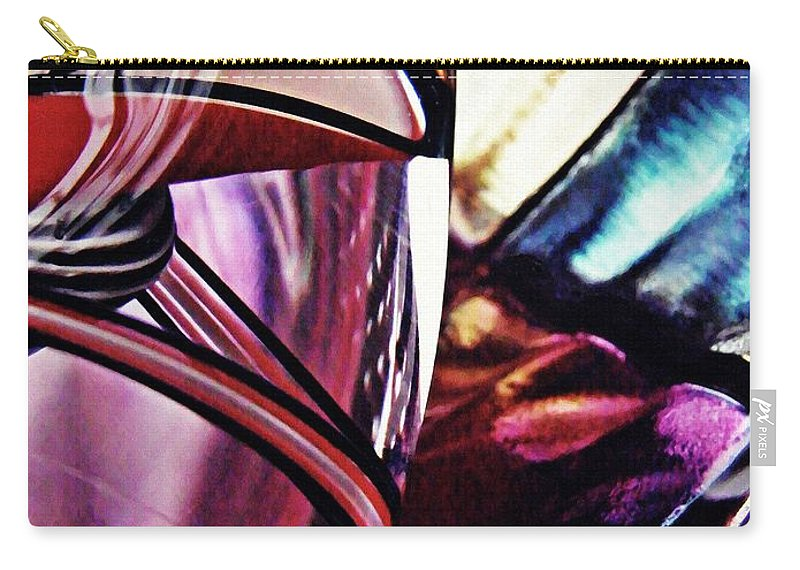 Glass Carry-all Pouch featuring the photograph Glass Abstract 523 by Sarah Loft