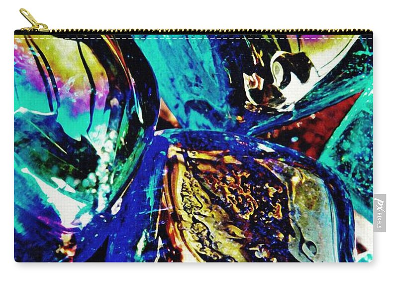 Glass Carry-all Pouch featuring the photograph Glass Abstract 687 by Sarah Loft