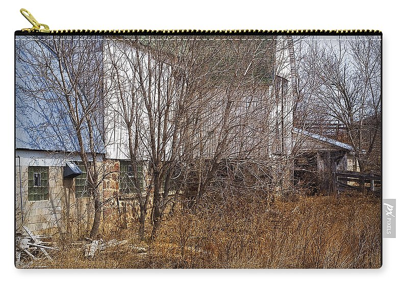 Barn Carry-all Pouch featuring the photograph Glass Block by Tim Nyberg