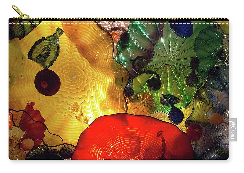 Glass Carry-all Pouch featuring the photograph Glass Expressions by Brigitte Mueller