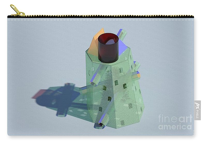Glass Carry-all Pouch featuring the digital art Glass House by Ron Bissett