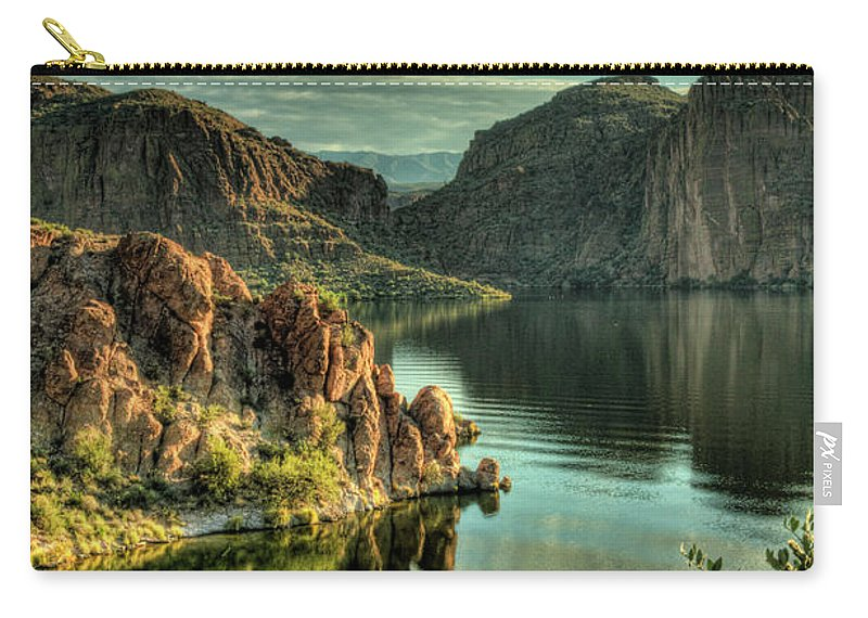 Arizona Carry-all Pouch featuring the photograph Glass Lake by Saija Lehtonen