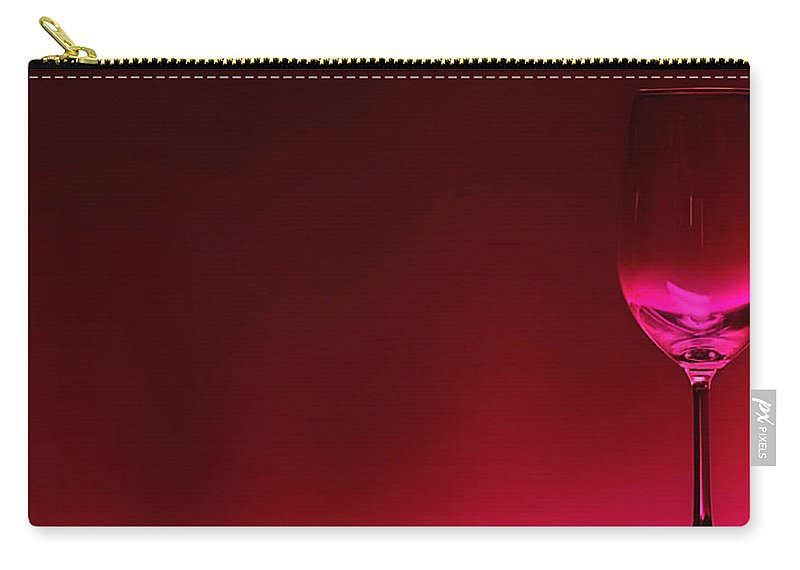 Wine Carry-all Pouch featuring the digital art Glass Of Wine by Abhijeet Dhidhatre