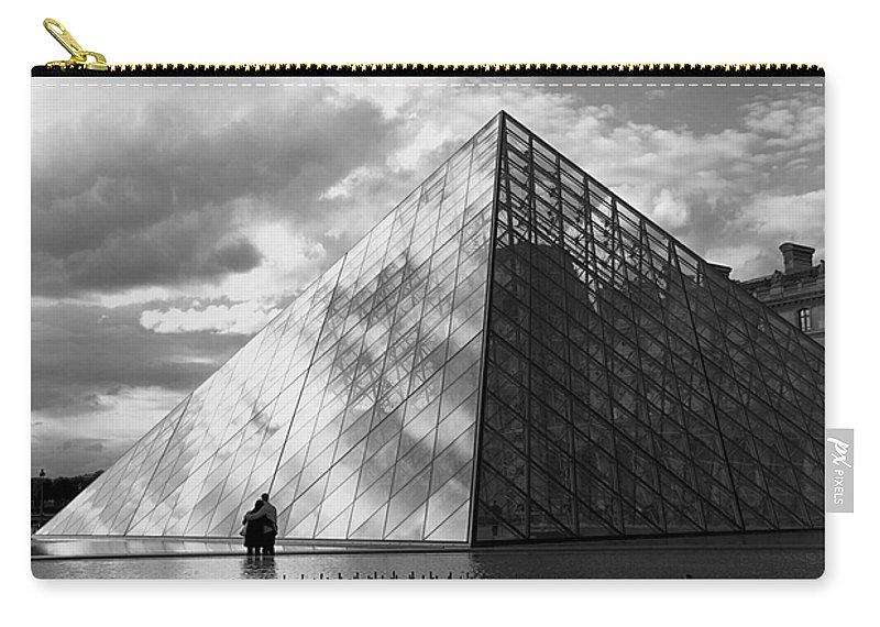 Paris Carry-all Pouch featuring the photograph Glass Pyramid. Louvre. Paris. by Bernard Jaubert