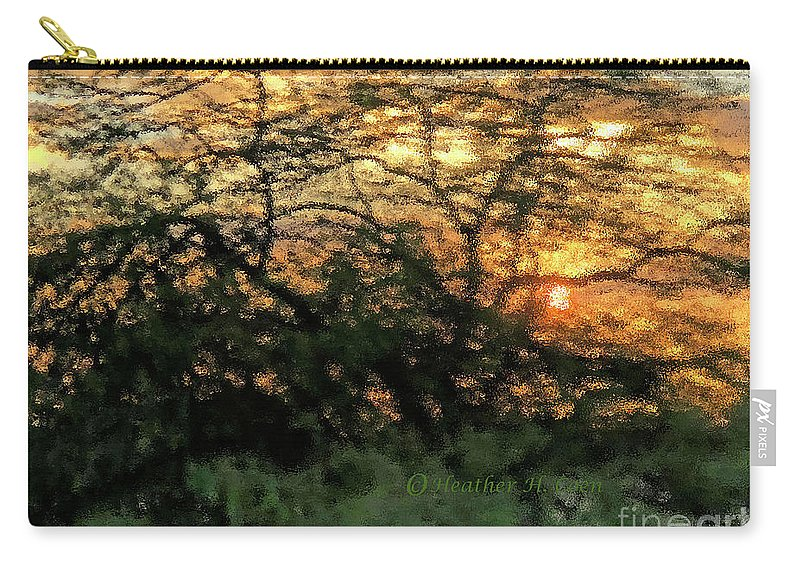 Sunset Carry-all Pouch featuring the photograph Glass Sunset Hawaii by Heather Coen