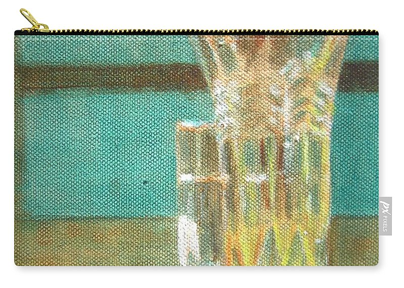 Glass Carry-all Pouch featuring the painting Glass Vase - Still Life by Usha Shantharam