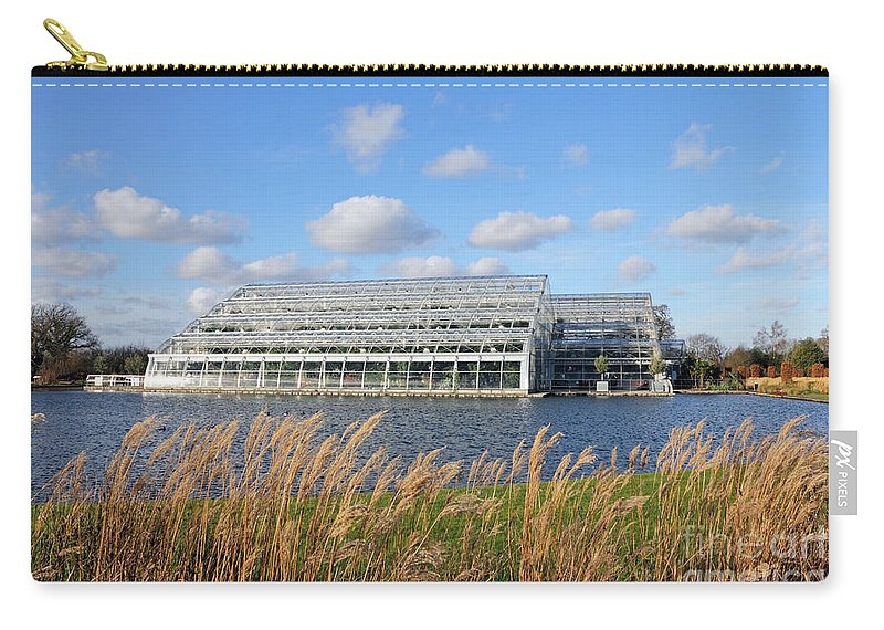 Exotic Butterflies At Rhs Wisley Surrey Uk Butterfly Glasshouse Lake Carry-all Pouch featuring the photograph Glasshouse At Rhs Wisley Surrey Uk by Julia Gavin