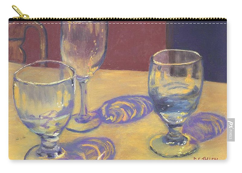 Glasses Carry-all Pouch featuring the painting Glasslights by Sharon E Allen