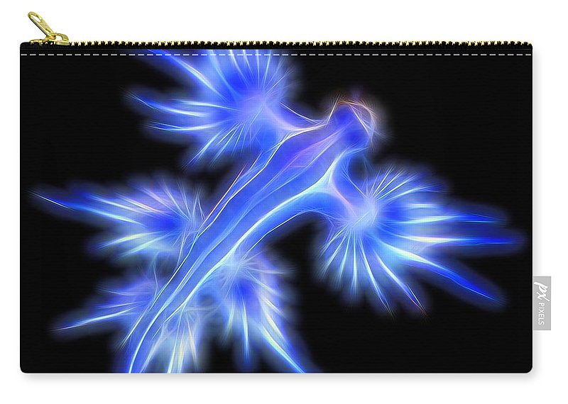 Glaucus Atlanticus Carry-all Pouch featuring the digital art Glaucus Atlanticus 1 by Nicholas Romano