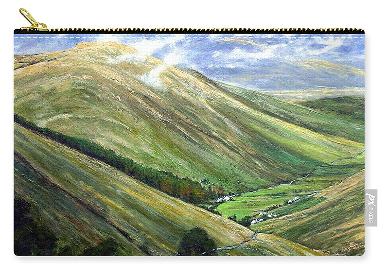 Landscapes Carry-all Pouch featuring the painting Glen Gesh Ireland by Jim Gola