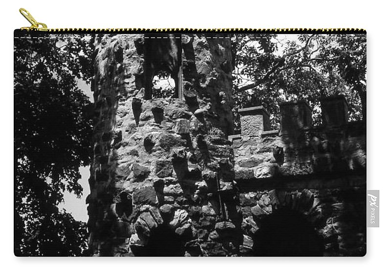 Castle Carry-all Pouch featuring the photograph Glen Island Castle by Richard Rizzo